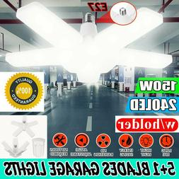 100W 20000LM Deformable LED Garage Light Bright Shop Ceiling