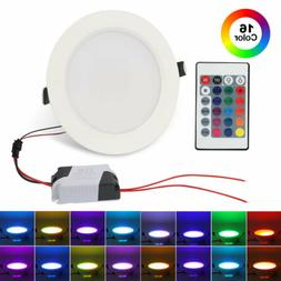 10W 16 Color LED RGB Recessed Ceiling Light Panel Down Lamp+