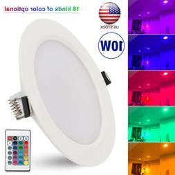 10W RGB LED Ceiling Recessed Panel Light Color Changing Pane