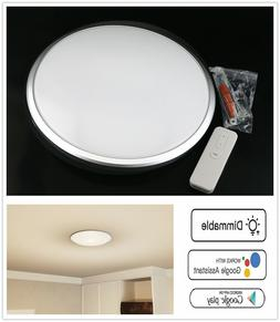 "11"" LED Ceiling Light Dimmable Smart WIFI APP Voice Remote L"
