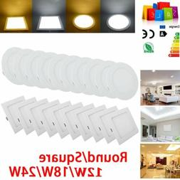 12W-24W Surface Mounted Recessed LED Ceiling Flat Panel Ligh