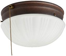 2Light Ceiling Fixture Sienna Interior Flush-Mount With Pull