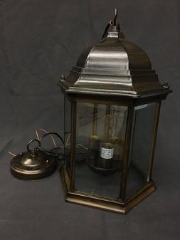 Outdoor light fixture, Hanging lantern, ceiling Oil Rubbed