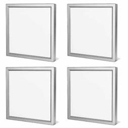 4-Pack Luxrite 6 Inch Square LED Flush Mount Ceiling Light 5