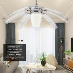 "42"" Ceiling Fan with LED Light and Remote Control Modern S"