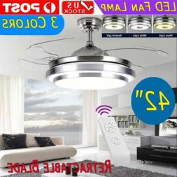 """42"""" Modern LED Remote Control Light Ceiling Fixtures Fan Lam"""