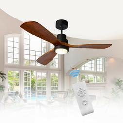 """52"""" Bronze Ceiling Fan with LED Light Kit & Remote Control 3"""