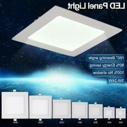 6-24W Dimmable LED Recessed Ceiling Panel Down Lights Bulb L