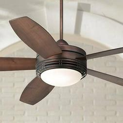 """60"""" Modern Outdoor Ceiling Fan with Light LED Remote Bronze"""