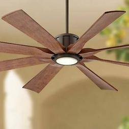 """60"""" Outdoor Ceiling Fan with Light LED Remote Bronze Damp Ra"""