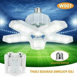 80W 100W LED Garage Light Bulb Deformable Ceiling Fixture Li