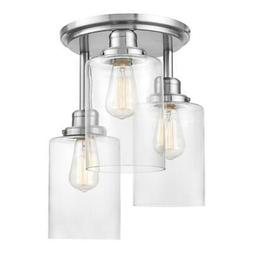 """Globe Electric 61418 Annecy 3 Light 13""""W Flush Mount Ceiling"""