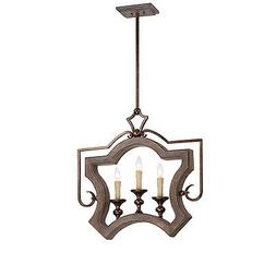 7-1330-3-327 Savoy House  3 Light Pendant with Dark Wood and