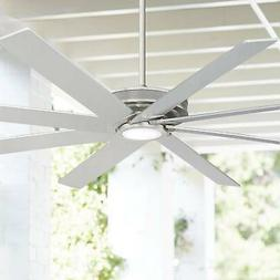 """70"""" Modern Outdoor Ceiling Fan with Light LED Nickel Damp Ra"""
