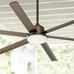 """72"""" Modern Outdoor Ceiling Fan with Light LED Bronze Damp Ra"""