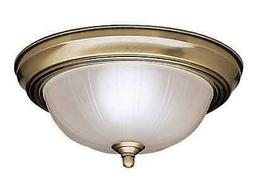 LOT OF 4 KICHLER 8653AB Flush Mount Ceiling Light Antique Br