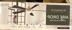 """Fanimation Aire Drop 52"""" Ceiling Fan Brushed Nickel Gray or"""