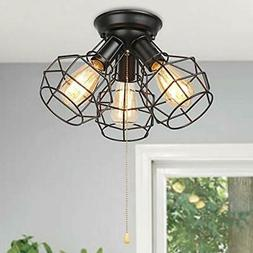 Baiwaiz Industrial Close to Ceiling Light with Pull Chain Oi