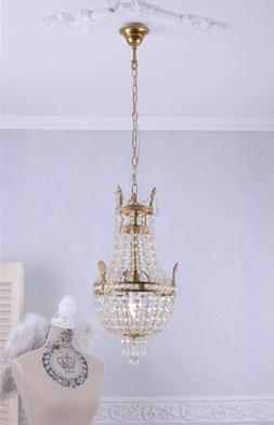 Basket Chandeliers Crystal Brass Gold Ceiling Light Maria Th