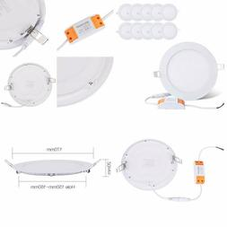 Brillihood 12W 6-Inch Ultra-Thin Round Led Recessed Ceiling