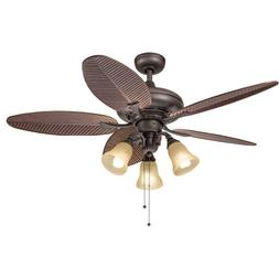 bronze 52 inch ceiling fan with 3