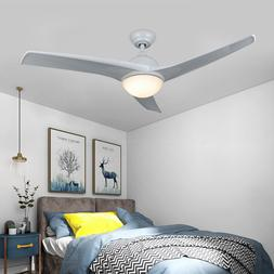 Contemporary Ceiling Fan with LED Panel Light & Remote Contr