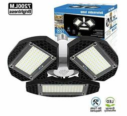 Deformable Garage LED Lights Ceiling Trilight Basement Shop