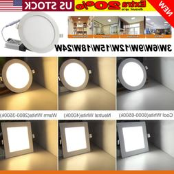 3 Color Epistar Recessed LED Panel Light 3W 9W-24W Ceiling D