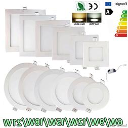 Dimmable Epistar Recessed LED Panel Light 9W 12W 15W 18W 21W