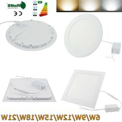 Dimmable Recessed LED Panel Light Ceiling Down Light 9W 12W