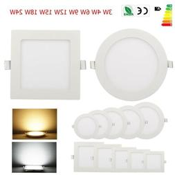 Dimmable Recessed LED Panel Light Ceiling Down Lights free s