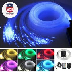 300pcs 2M LED Fiber Optic Light Star Ceiling Kit DIY Car 12v