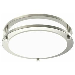 Facon Double Ring LED Flush Mount Ceiling Light Dimmable 10'