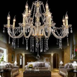 elegant crystal glass chandelier pendant ceiling lighting