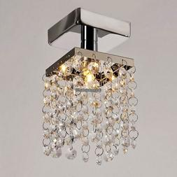 Fashion Semi Flush Mounted Crystal Bead G9 Ceiling Chandelie