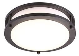 Cloudy Bay LED Flush Mount Ceiling Light,10 inch,17W Dimmabl