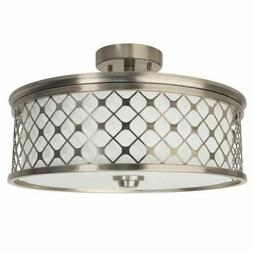 flush mount round adjustable ceiling light brushed