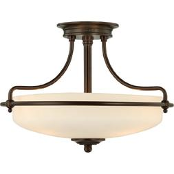 Quoizel GF1717PN Griffin 3 Light 17-Inch Semi Flush Mount, P