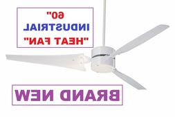 "Emerson HF1160WW 60"" Industrial Ceiling Fan WHITE COLOR"