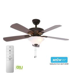 Indoor Smart Ceiling Fan with LED Light Kit and WINK Remote