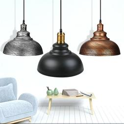 Industrial Rustic Ceiling Light Hanging Pendant Lamp Shade F