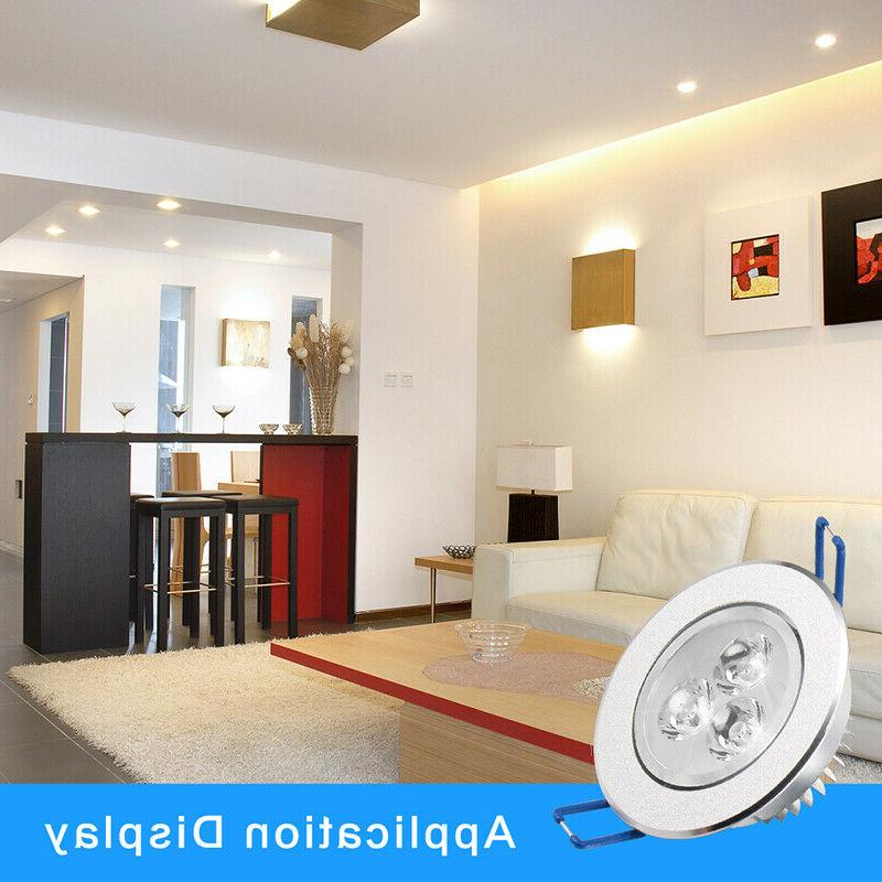 10pcs Dimmable Ceiling Downlight Home