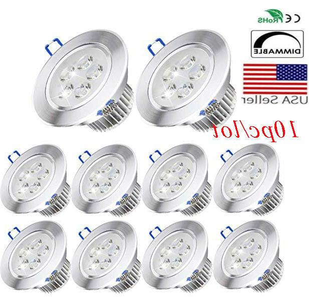 10x dimmable led downlight spotlight recessed ceiling