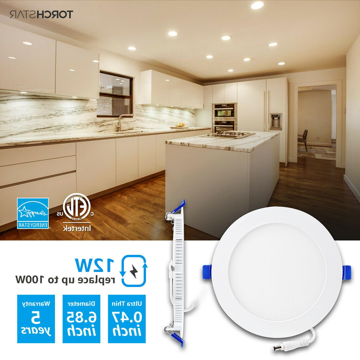 """TORCHSTAR Ultra-thin 6"""" Dimmable LED Downlight, Wafer"""