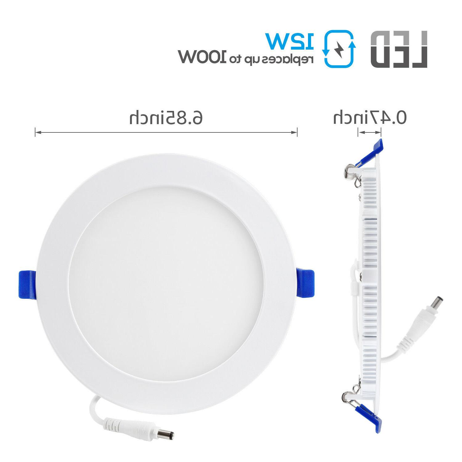 12W 6-inch Dimmable LED Ceiling 3000K