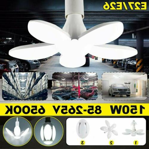 150w 30000lm deformable led garage light bright