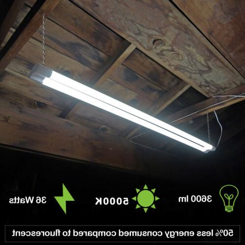 Hykolity 4 36W Shop Linkable Garage Ceiling Lamp