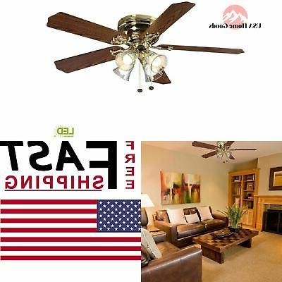 52 ceiling fan with light kit indoor
