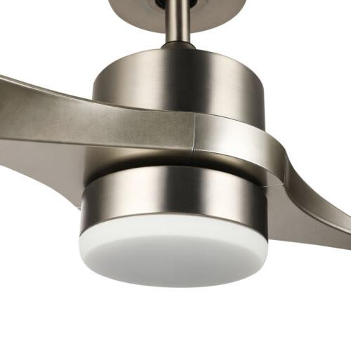 """52"""" Ceiling w/ 2 ABS Light Kit Brushed Remote Control"""
