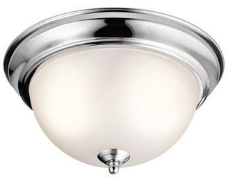 Kichler 8111CH Flush Round Ceiling Chrome 2-Light